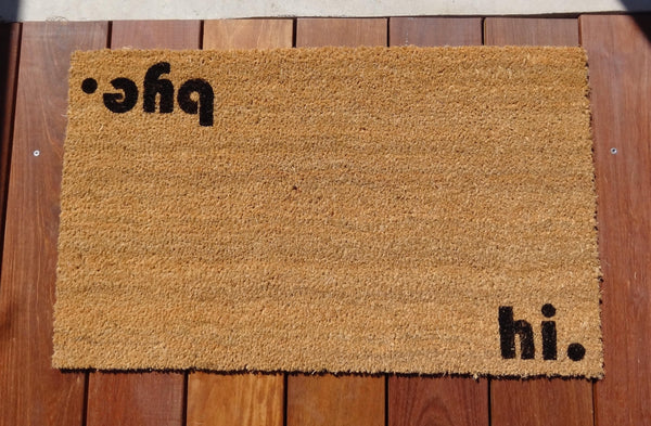 Hi / Bye Door Mat (doormat) - perfect housewarming gift