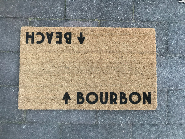 Bourbon / Beach Door Mat © (Doormat)