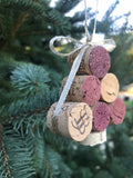 Cork Tree Ornament with Gold Ribbon