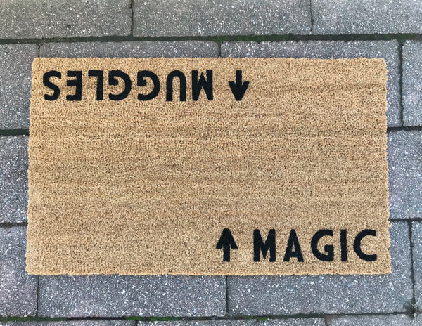 Magic / Muggles, Wizard Door Mat