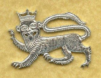 Lion Medieval Badge - Pewter Replicas