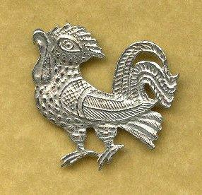 Cockerel Medieval Badge - Pewter Replicas