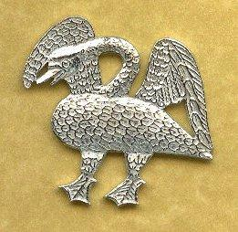 Swan Pilgrim Medieval Badge - Pewter Replicas