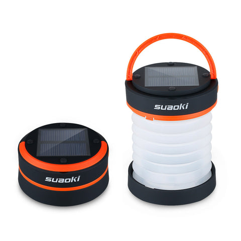 Waterproof Solar-Powered Collapsible LED Lantern (With Cell Phone Charging Port)