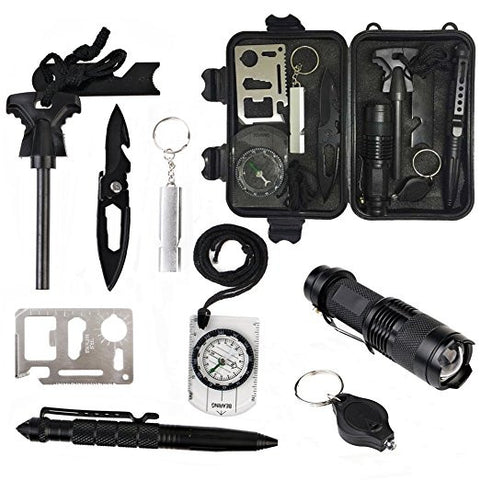 Light-Weight Sturdy & Waterproof 10 Piece Survival Toolset