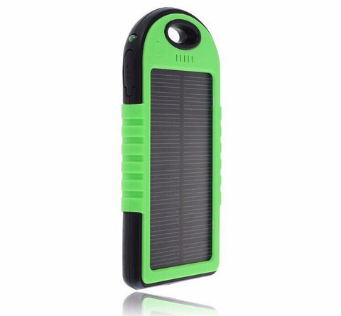 Rugged Waterproof Solar Powered Bank/Charger 5000mah - Micro-USB