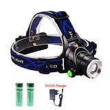 Waterproof 5000 Lumen L2 LED Headlamp With Comfort-Fit