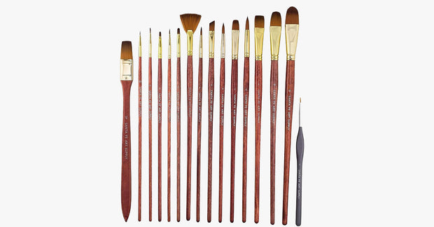 Artist Paintbrush Set - 15 Brushes