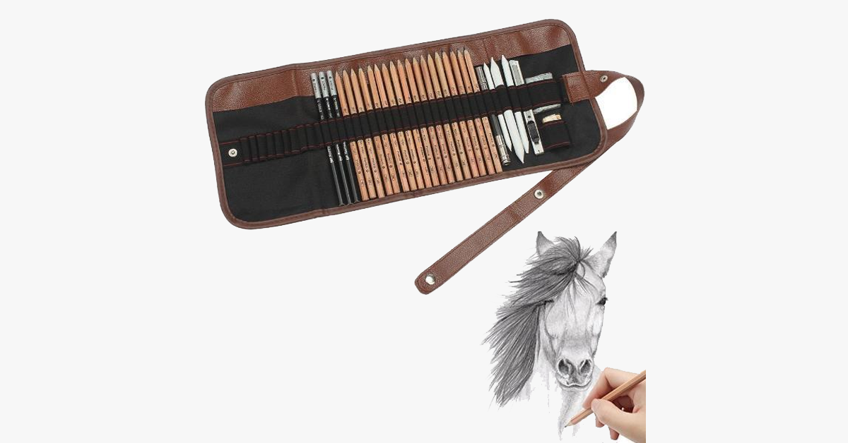 Complete Drawing and Illustration Case - Tools Included