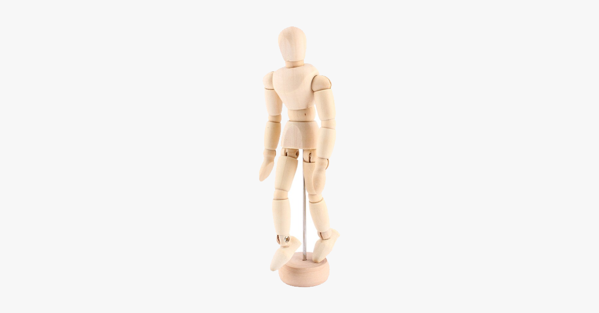 Male Wooden Body Figure