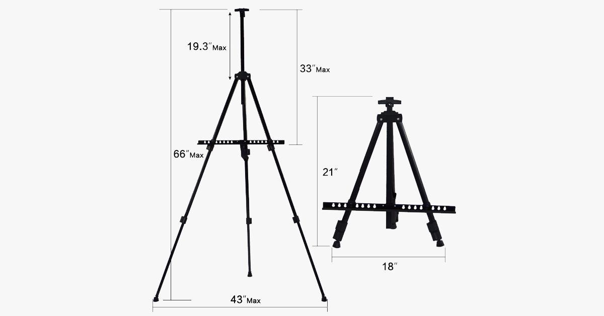 Portable Metal Mannequin Tripod Stand
