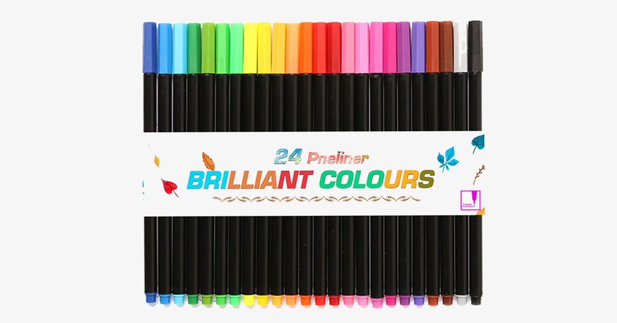 24 Colors Fineliner Drawing Pens