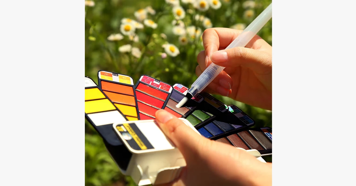 Foldable Solid WaterColor Paint Set
