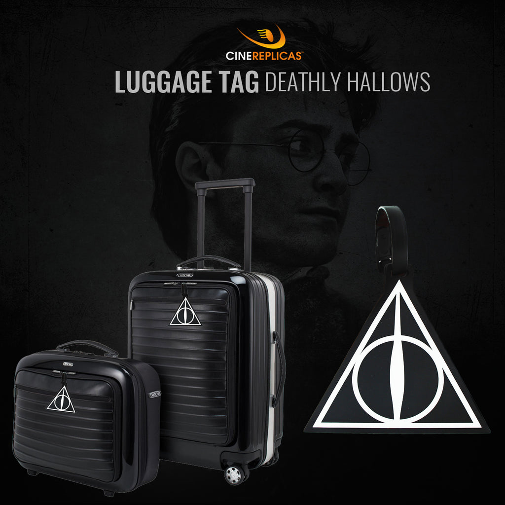 harry potter lugagge tag dealthy hallows suitcases