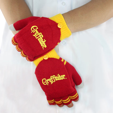 Fingerless / Mitten Gloves - Gryffindor red