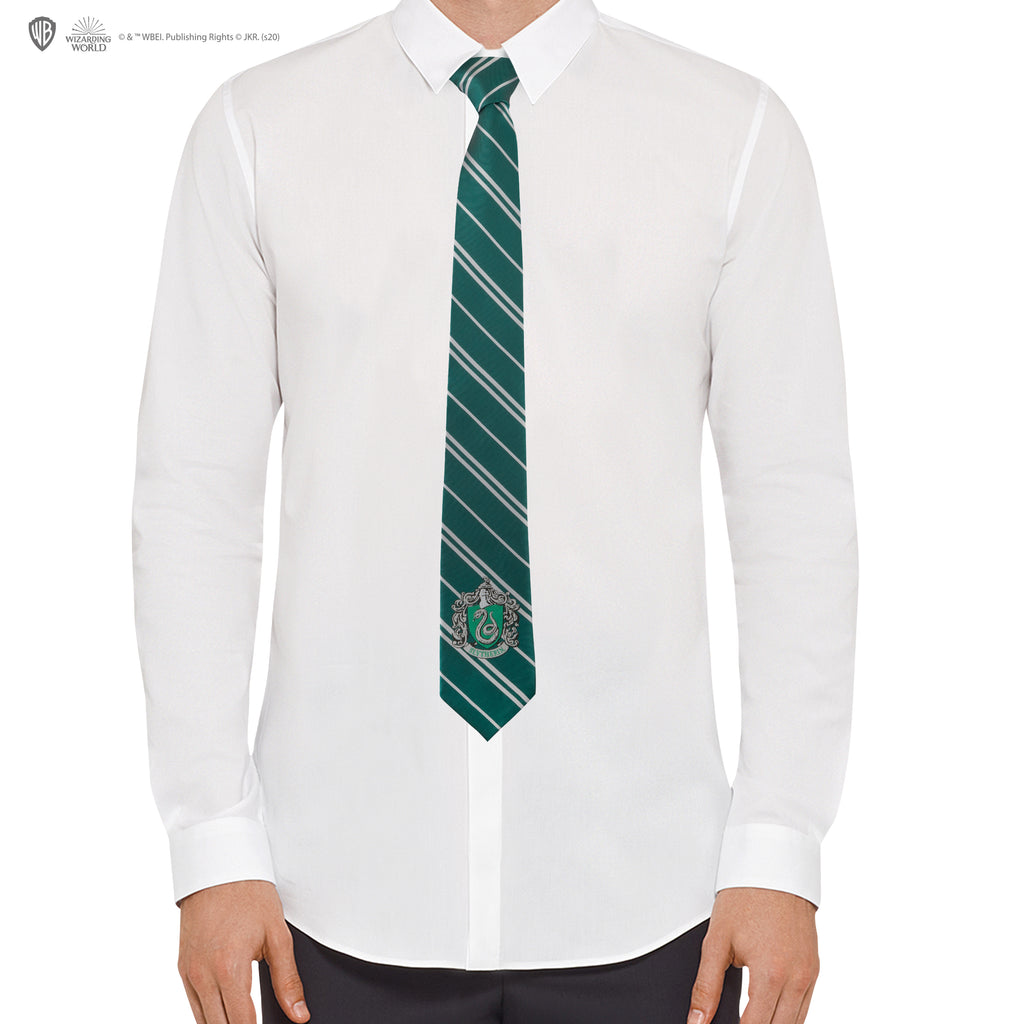 Adults - Slytherin Tie - Woven crest
