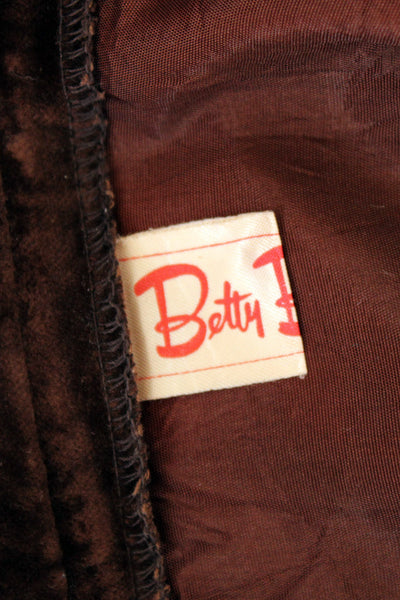 Vintage Betty Barclay velvet maxi rok_5