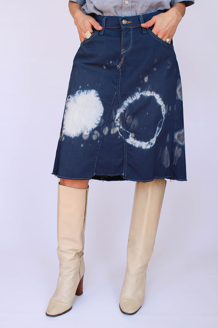 Vintage LEE tie dye denim rok