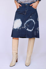 Vintage LEE tie dye denim rok_1