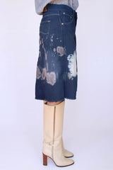 Vintage LEE tie dye denim rok_2