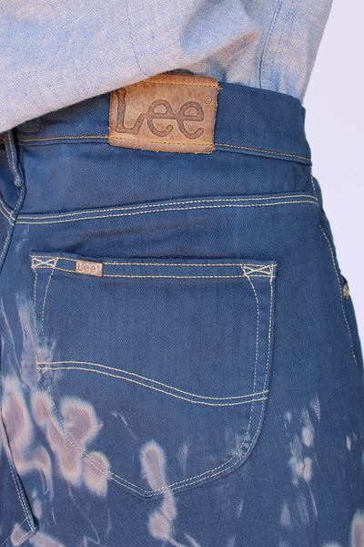 Vintage LEE tie dye denim rok_4
