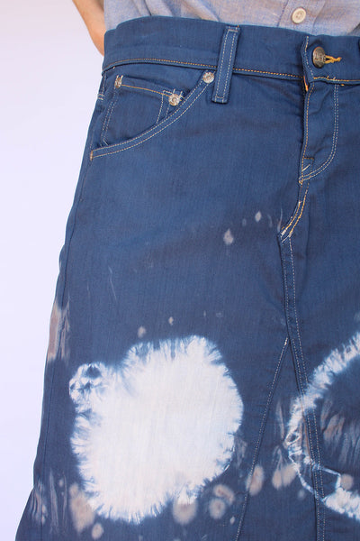 Vintage LEE tie dye denim rok_5
