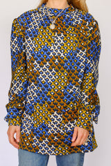 Vintage sixties top met print_1