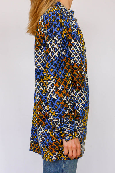 Vintage sixties top met print_2