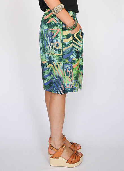 Vintage tie dye tropical short_2