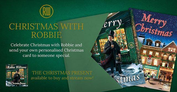 Robbie Williams Christmas Card