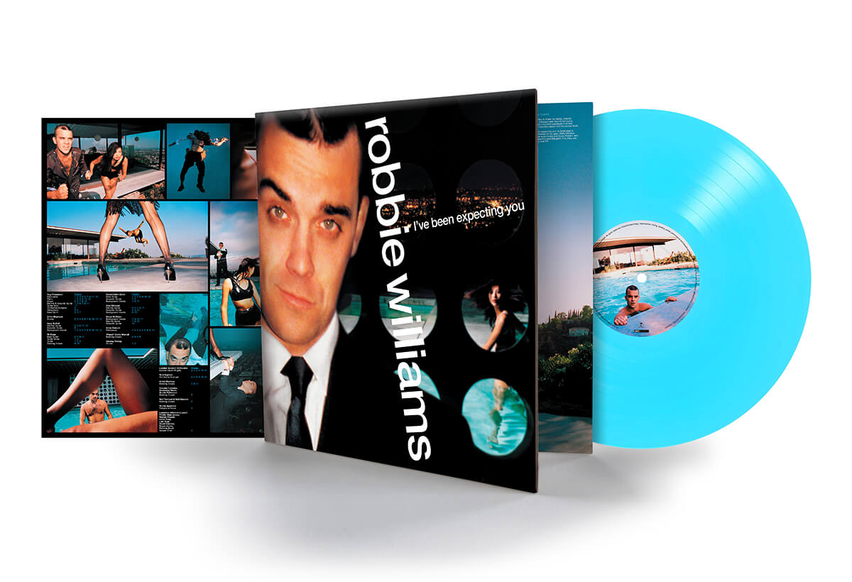 ROBBIE WILLIAMS I'VE BEEN EXPECTING YOU AQUAMARINE VINYL / LIMITED TO 600 COPIES