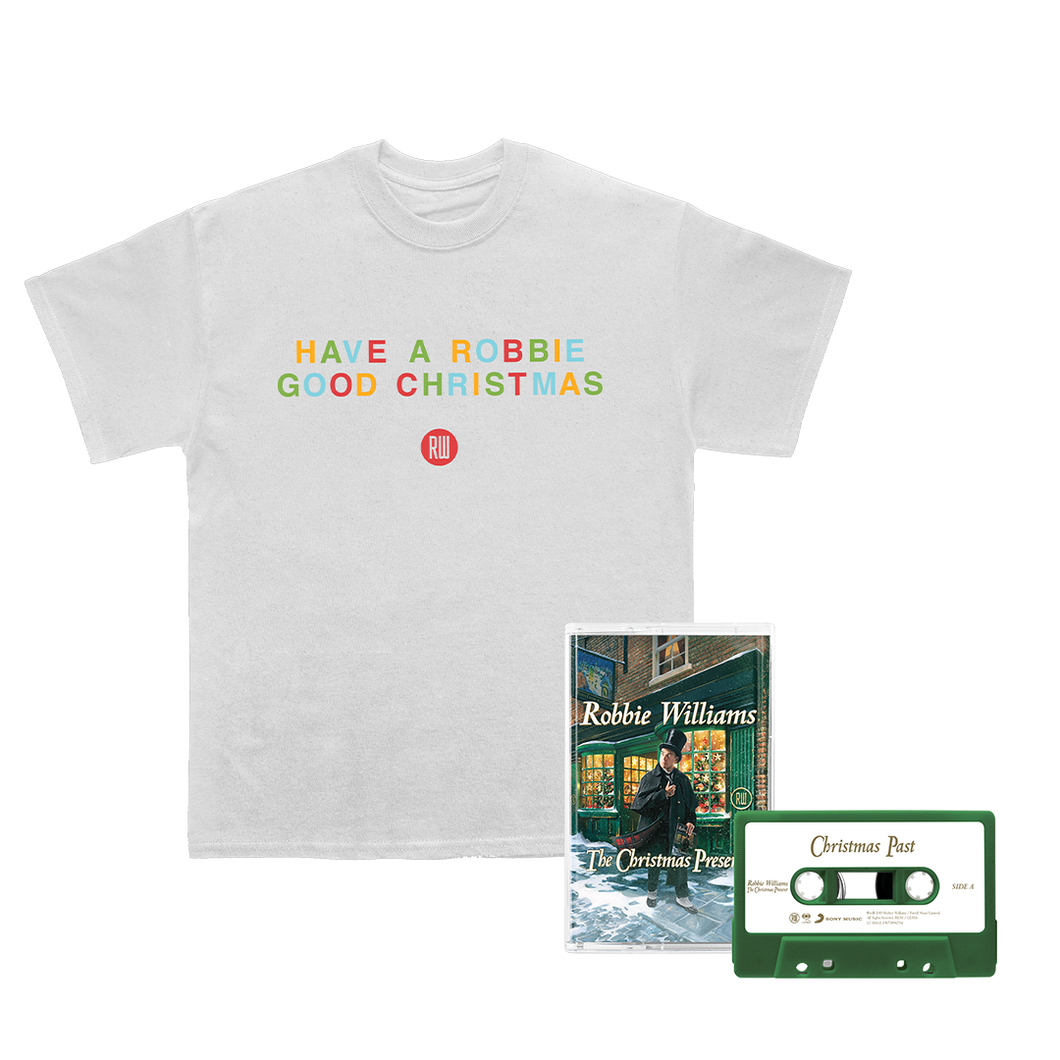 Robbie Good Christmas Tee + Green Cassette