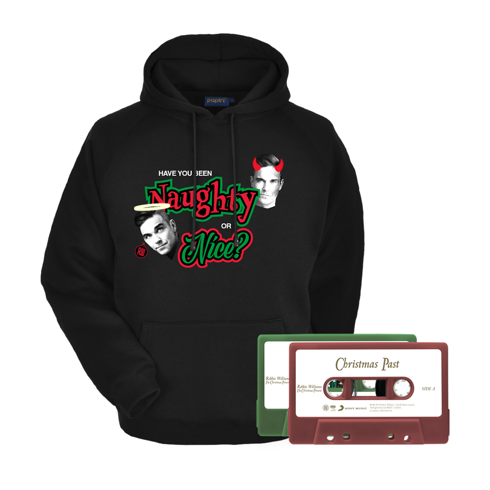 Naughty or Nice Hoodie + 2 Cassette Bundle