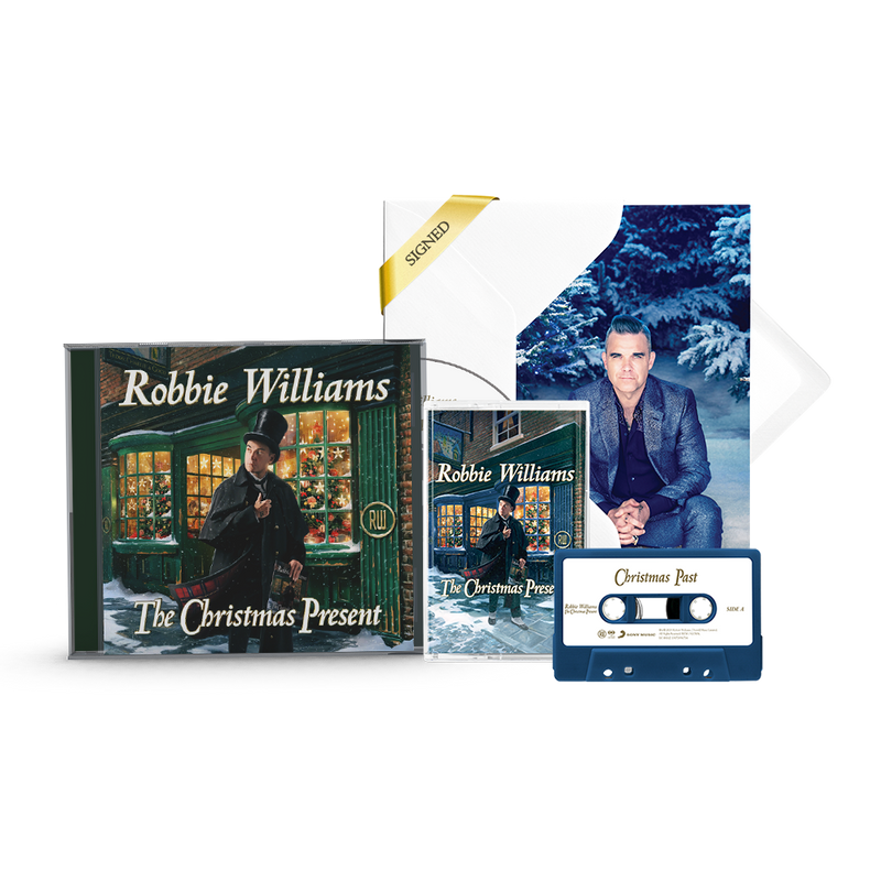 Signed By Robbie Christmas Edition – Signed Christmas Card, Standard CD & Blue Cassette