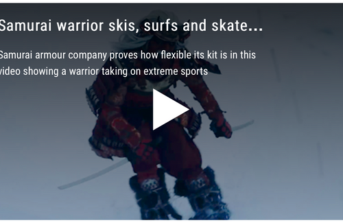 Got to watch this!  Skiing SAMURAI Warrior Style