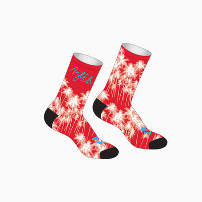 Aloha Palms Tallboy Socks