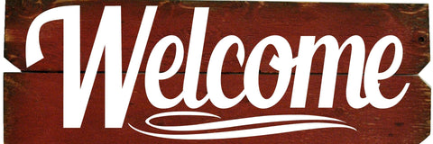 12 x 36 Red/White  Welcome