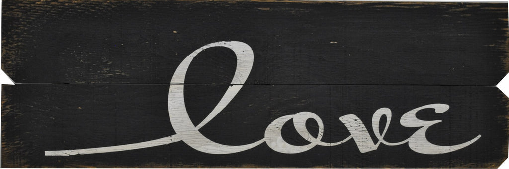 12 x 36 Black/White Love