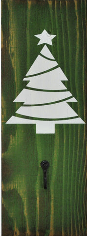 JD Green/White Christmas Tree Stocking Holder