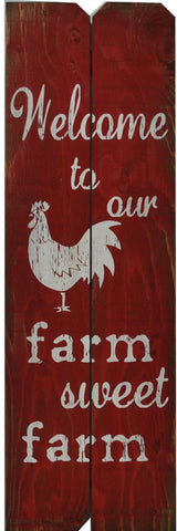 12 x 36 Red/White Welcome to the Farm sweet Farm