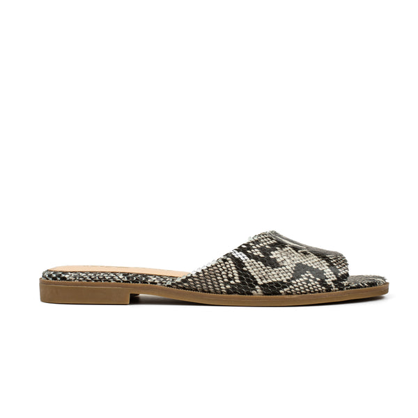 Constantine Natural Python Print Leather Slide