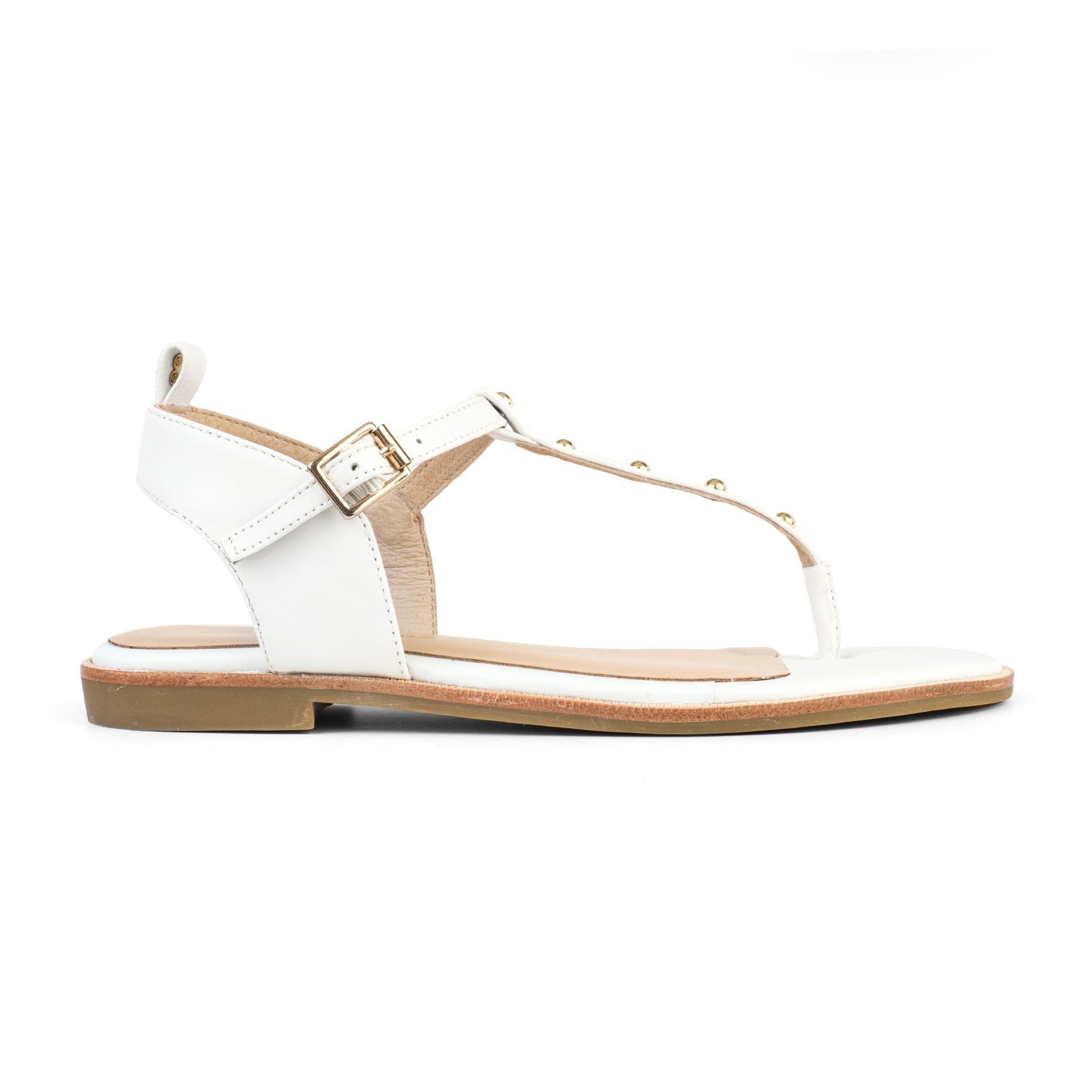 yosi samra leather sandal white