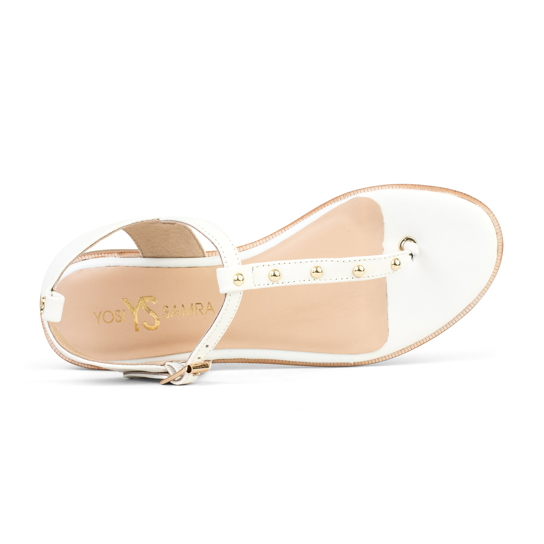 Calliste White Leather Studded Sandal
