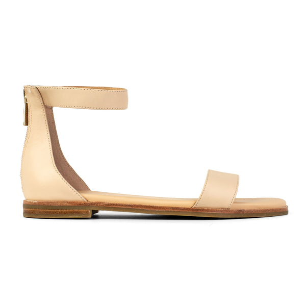 Yosi Samra Nude Leather Sandal Side