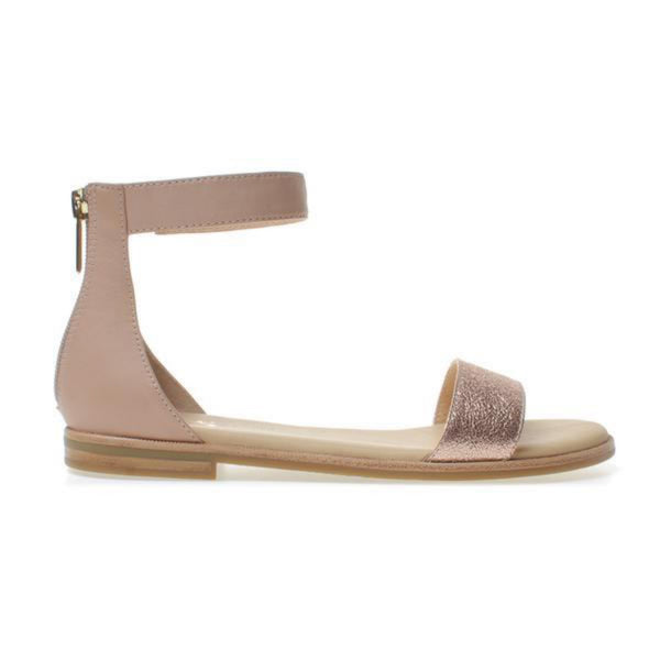 yosi samra leather sandal nude rose gold