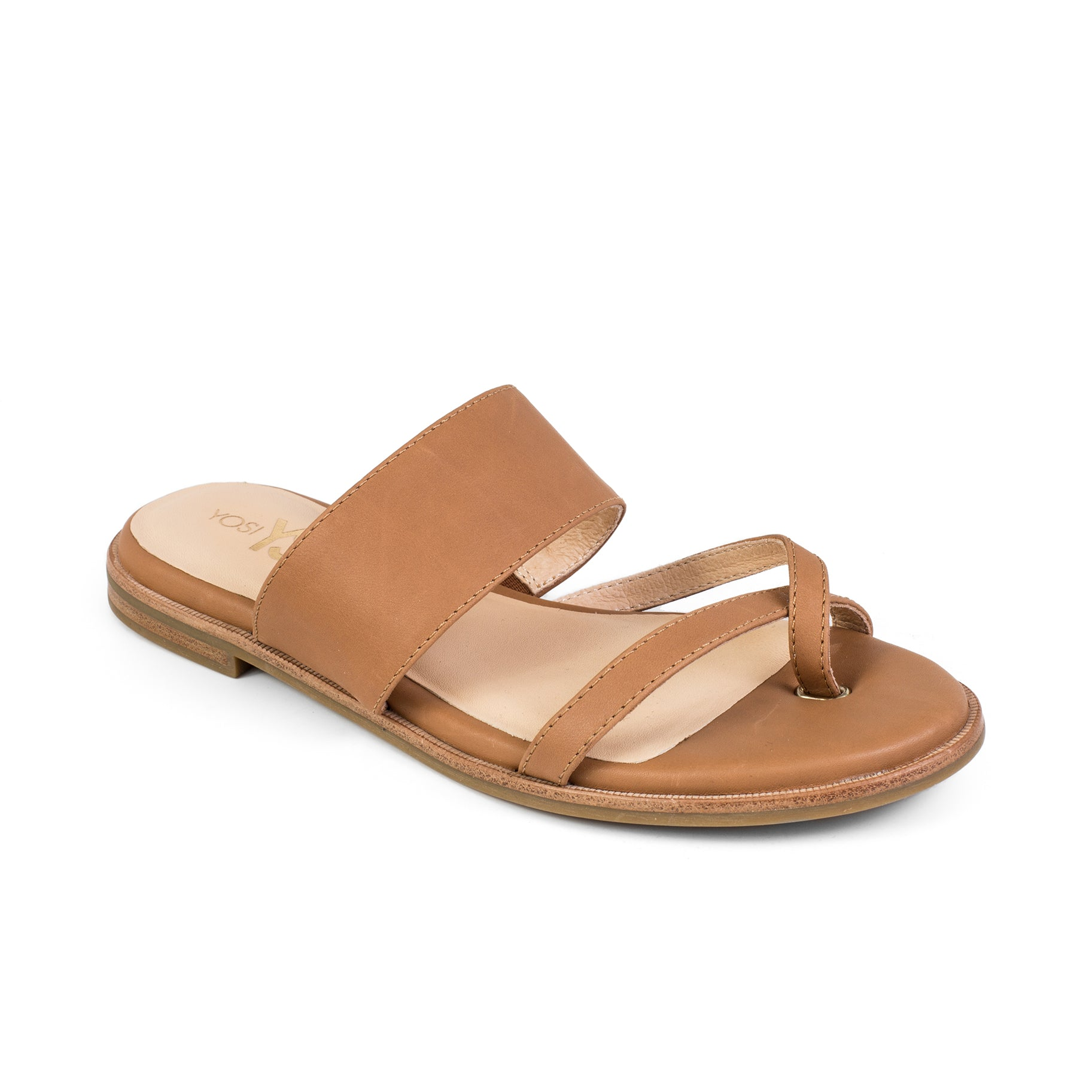 yosi samra leather sandal whiskey