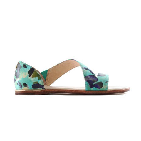 Rivington Seafoam Metallic Leather Flip Flop