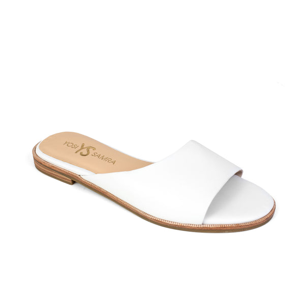 Constantine White Leather Slide