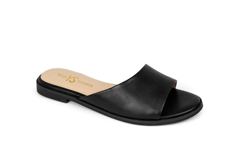 Constantine Black Leather Slide