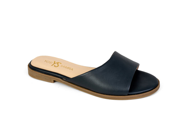 Constantine Deep Navy Leather Slide